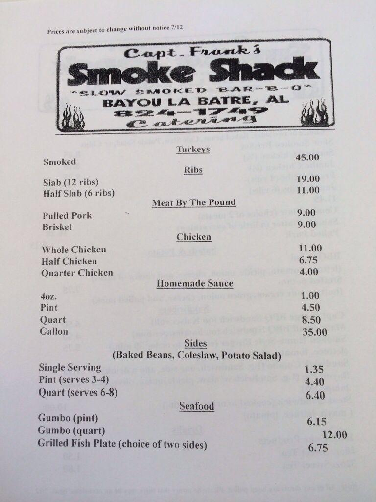 Captain Frank Smoke Shack